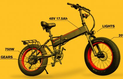 """Unbranded Foldable 20"""" Fat Tire Electric Bike"""