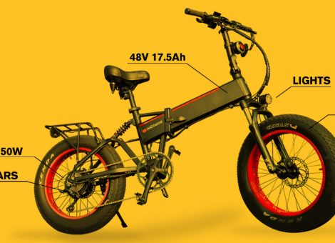 "Unbranded Foldable 20"" Fat Tire Electric Bike"